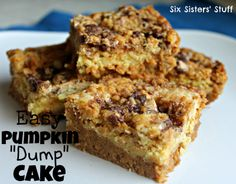 Six Sisters' Stuff: Pumpkin Dump Cake Recipe