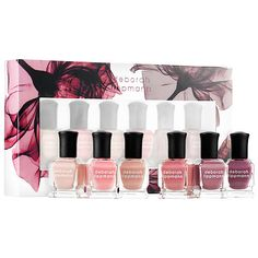 Shop Deborah Lippmann's Bed of Roses Nail Polish Set at Sephora. It features six, easy-to-wear, rosy-nude shades.