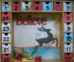"""Believe"" Advent Calendar - Scrapbook.com"