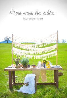 Cómo decorar una mesa rústica - All Lovely Party
