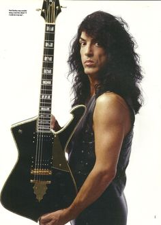 Kiss Paul Stanley Signature Ibanez II Iceman Guitar 8 x 11 pin-up photo Kiss Images, Kiss Pictures, Paul Stanley Guitar, Kiss Without Makeup, Paul Kiss, Kiss World, Gene Simmons Kiss, Eric Carr, Epiphone Les Paul