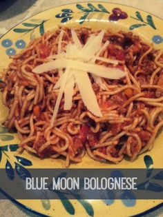 Blue Moon Bolognese | Orange Blossoms and Sunshine