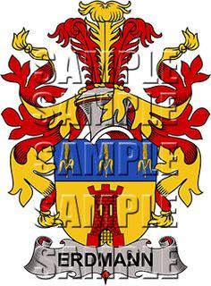 Erdmann Family Crest apparel, Erdmann Coat of Arms gifts