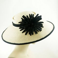 Natural PANAMA STRAW Hat / Vintage Style by TheMillineryShop