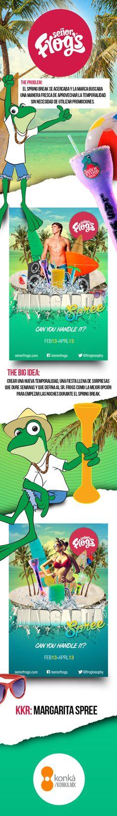 Sr. Frogs - Campaña por temporalidad