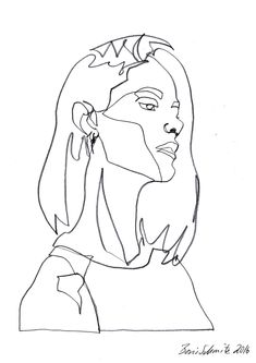 """Gaze 451"", continuous line drawing by Boris Schmitz"