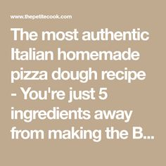 The most authentic Italian homemade pizza dough recipe - You're just 5 ingredients away from making the BEST homemade pizza! Perfect Pizza, Good Pizza, Pizza Recipes, Vegetarian Recipes, Pizza Ball, Best Homemade Pizza, Budapest Travel, Dough Recipe, Everyday Food
