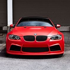 Clean Matte Red BMW M3