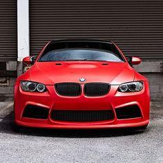 Clean Matte Red BMW M3