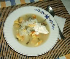 Tárkonyos tojásleves Cheeseburger Chowder, Soup, Chicken, Ethnic Recipes, Soups, Kai