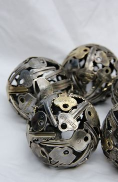 """key balls, wicked centrepiece; you can usually get a bunch of """"dead"""" keys at Home Depot or Lowes just for the asking."""