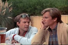 Dirk Benedict Dirk Benedict & Dwight Schultz in The A Team Templeton Peck, Face A Team, The Ateam, Dwight Schultz, A Team Van, 20th Century Fox, 70s Tv Shows, It Crowd, Geek Chic