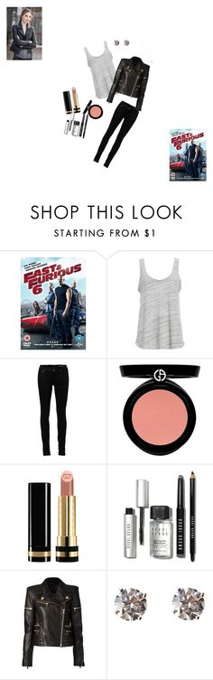 """Steal their Style: Gisele Fast and Furious 6"" by seagull-114 ❤ liked on Polyvore featuring Project Social T, Yves Saint Laurent, Armani Beauty, Gucci, Bobbi Brown Cosmetics, Balmain and Tiffany & Co."