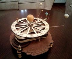 Orrery - A mechanical solar system model, designed for laser cutting