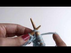 WE ARE KNITTERS - Cómo tejer punto trigo (número de puntos par) - YouTube