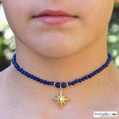 DIY Stargazer choker featuring a starburst charm