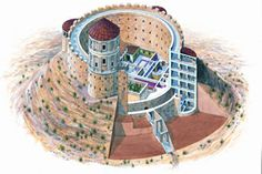 Herod the Great built this monumental fortress and palace on the highest hill in the Judean desert, 15KM  south of Jerusalem