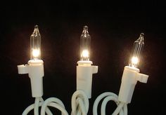 Set of 100 LED Amber Wide Angle Christmas Lights White Wire