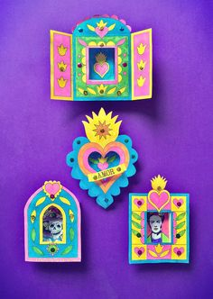 Try this craft activity: Day of the Dead nicho making! #nicho https://happythought.co.uk/craft/day-of-the-dead-nicho-activity