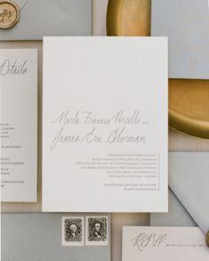 Ink Ivory Wedding Invitations, Addressing Wedding Invitations, Letterpress Wedding Invitations, Wedding Envelopes, Wedding Stationery, Wedding Place Cards, Wedding Gold, Torn Paper, Vintage Stamps