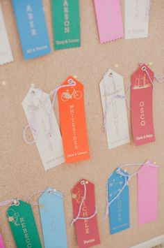 ribbon escort tags