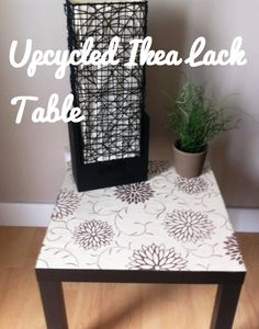 Upcycling Ikea Lack Side Tables - maybe do this for our coffee table?