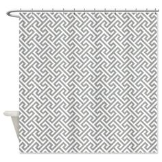 Preppy Cross Pattern Shower Curtain-Custom-Grey and White or Choose ANY Colors-Standard & Extra long sizes available by GatheredNestDesigns on Etsy https://www.etsy.com/listing/194653264/preppy-cross-pattern-shower-curtain