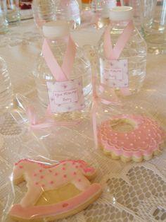Little bottles. Cookies. custom. Baby Shower.  Botellitas y galletitas especiales para el Baby Shower