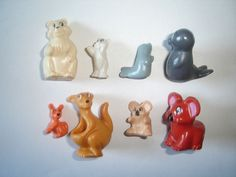 KINDER SURPRISE SET - EXOTIC ANIMALS WITH BABYS 1996 - FIGURES TOYS COLLECTIBLES #KinderSurpriseFerrero