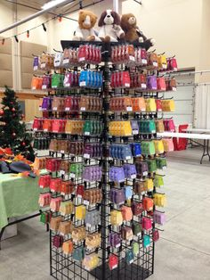 #Vendor #Show, #Scentsy #booth set up. 2x6 black wire grid around tent post. Displayed on all 4 sides keeping customer at my booth longer without looking busy. I added shelves on top for additional merchandising.