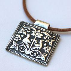 Fine Silver Birds in the Garden Necklace - Made to Order. $129.00, via Etsy.