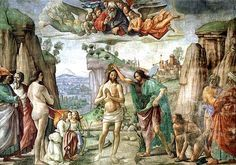 Gesù è battezzato al Giordano (1° mistero della luce)