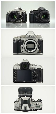 """Sexiest Camera ever, the DSLR Nikon DF.  The fusion of responsive, intuitive dial operation and """"flagship D4 image quality"""" in the smallest and lightest FX-format body.   #camera #dslr #photography"""