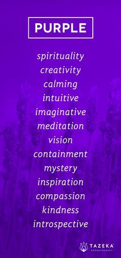 Purple Color Psychology http://www.tazekaaromatherapy.com