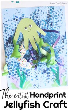 This jellyfish craft will become your newest favorite keepsake to make this summer and/or part of an under the sea theme in your homeschool or classroom. Eyfs Activities, Craft Activities For Kids, Projects For Kids, Art Projects, Preschool At Home, Preschool Crafts, Crafts For Kids, Under The Sea Crafts, Under The Sea Theme