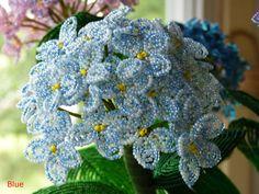One Stem Hydrangeas  French Beaded Flower