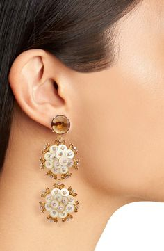 Kate Spade Statement Earrings. Be Bold with Triple Drop Earrings. Stunning!