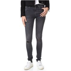 CHEAP MONDAY Second Skin Distressed Skinny Jeans, Medium Blue ...