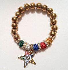 Order of the Eastern Star Charm Bracelet