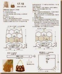 brown rose crochet bag assembly