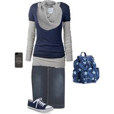 """School Morning"" by modest-17 on Polyvore"