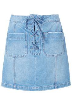 ede027a4fb ATEEN - Saia jeans amarração - azul - OQVestir Ganga