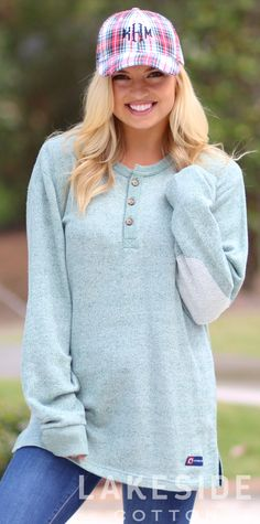 Southern Proper Hunter Henley in Loden Frost | Lakeside Cotton