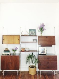 With QuinnVintageandFound's mid-century storage unit, your organization problems are effectively solved. #etsyvintage