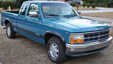 Dodge Dakota - I had a 1996 two tone blue on silver.  It was the only vehicle I've ever owned that was 'loaded'.  The only option it did not have was side running boards.