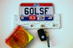 License Plate Key Holder