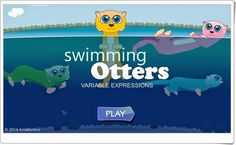 Swimming Otters Multiplication supports Grade 3 Common Core Math Standards under Operations and Algebraic Thinking. Multiplication Facts, Multiplication And Division, Division Games, Common Core Math Standards, Apps, Math Games, Otters, Playground, Otter