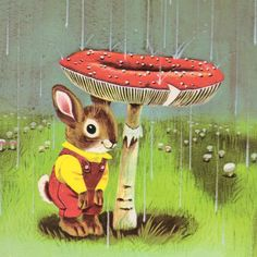 """I am a Bunny, illustrated by Richard Scarry, 1963 - Oh my gosh!  This was my favorite book when I was a kid - I memorized it and it was the first book I could """"read""""! :)"""