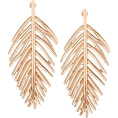 Metal Vintage Leaf Earrings Golden ($30) ❤ liked on Polyvore featuring jewelry, earrings, zaful, golden earring, metal jewelry, metal jewellery, earring jewelry and leaves jewelry