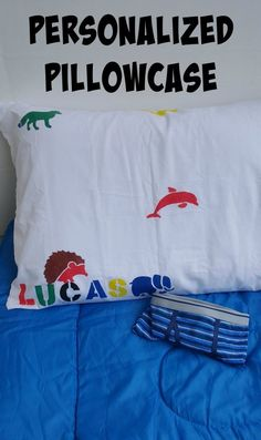 DIY personalized pillowcase for kids